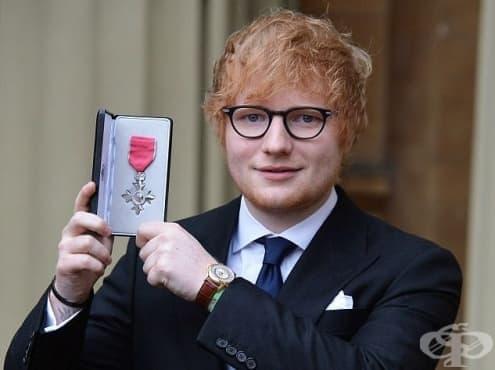 Британският изпълнител Ед Шийрън получи орден лично от принц Чарлз - изображение