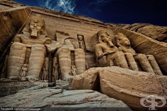 Изящни египетски храмове, които са били преместени - изображение