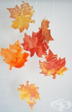 Украсете дома си с реалистични ръчно направени есенни листа от оризова хартия - изображение
