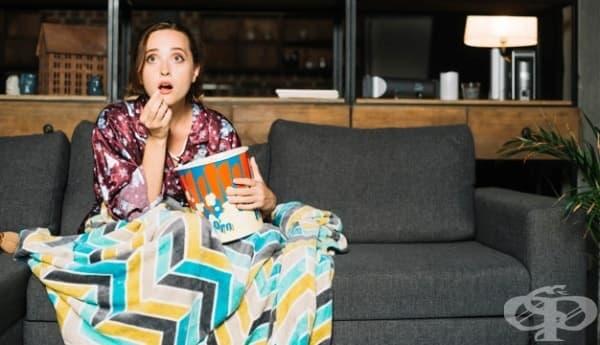 Учени: Гледането на страшни филми води до отслабване - изображение