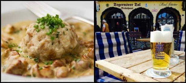 Хлебни кнедли и гъби по баварски в компанията на една голяма бира в сърцето на стария Мюнхен - изображение