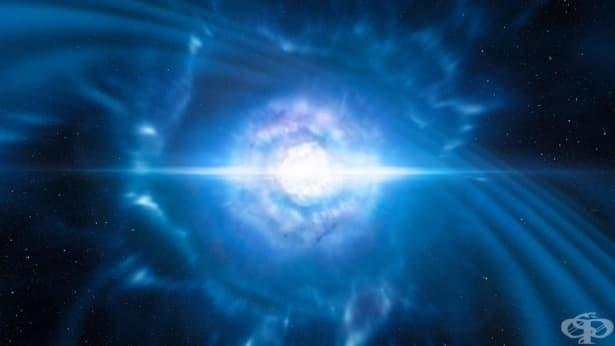 За първи път в историята учените наблюдаваха сблъсък на неутронни звезди - изображение