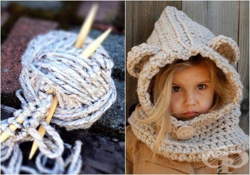 Уникални плетени качулки и шапки за малки принцеси, вдъхновени от майчината любов и природата - изображение