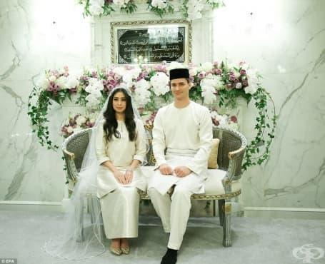 Приказка: Холандски футболист се ожени за малайзийска принцеса - изображение