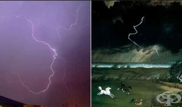 Учени: Художници изобразяват грешно мълниите в своите картини - изображение