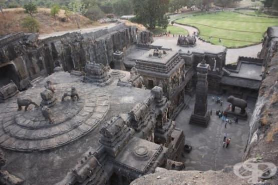 Индийският храм Кайласа – най-голямата монолитна структура в света - изображение