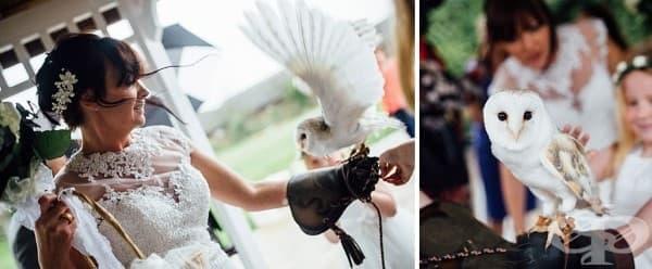 Булка обръсна главата на сватбата си, за да подкрепи неизлечимо болния си младоженец - изображение
