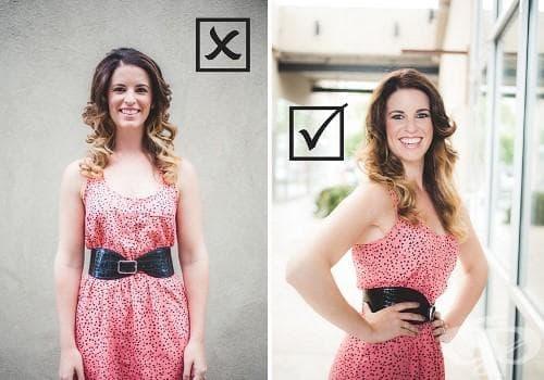 10 трика в позирането за снимка, отнемащи поне 5 килограма от реалното ви тегло - изображение