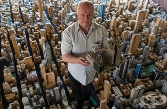 Къща от картон: Германски пенсионер гради мини мегаполис в продължение на 65 години - изображение