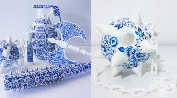 Творец създава керамични оръжия, които символизират силата на жената - изображение