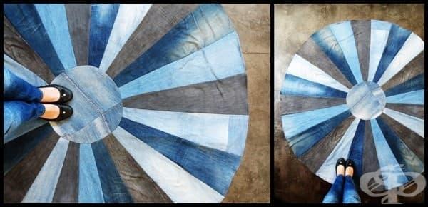 Ето как да си направим ефектен килим от старите дънки - изображение