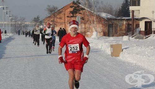 Смразяващ Коледен маратон в Русия - изображение