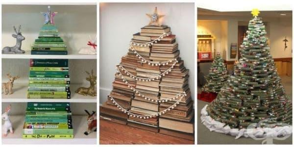 Как да си направим коледна елха от книги - изображение