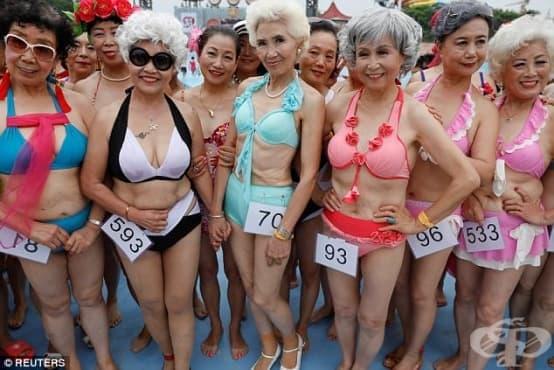 Над 400 китайски баби по бански участваха в конкурс за красота - изображение