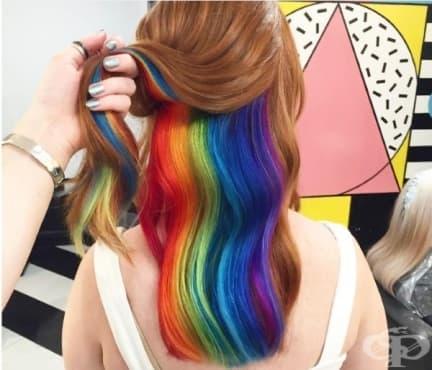 Скритите в косата дъги - последният хит в Инстаграм  - изображение