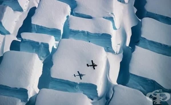 Каква сила е създала тези странни ледени кубове на Антарктида - изображение