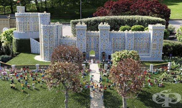 Лего пресъздаде замъка Уиндзор по повод кралската сватба - изображение