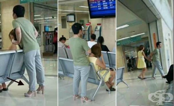 Китаец  с розови токчета се превърна в истинска интернет сензация - изображение