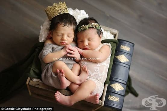 Съвременните Ромео и Жулиета в една необичайна бебешка фотосесия - изображение