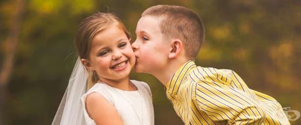 Трогателно! 5-годишно момиче със сърдечно заболяване сбъдна мечтата си да бъде булка - изображение