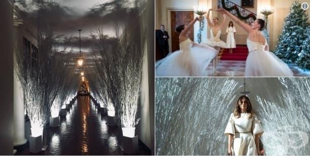 Кошмарът преди Коледа, или коледната украса на Мелания Тръмп - изображение