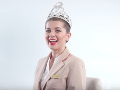 Стюардесата, която спечели Мис Шотландия - изображение