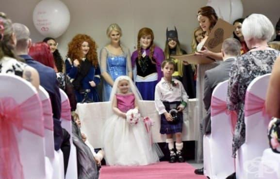 5 - годишно момиче с онкологично заболяване се омъжи  - изображение
