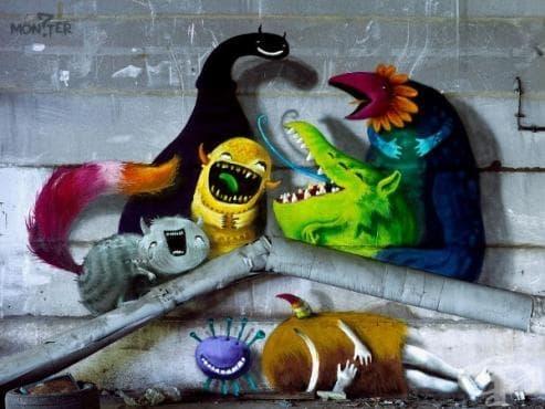 """Monzter"" – новите невероятни стенописи на Ким Кьостер в изоставени сгради в Берлин (галерия) - изображение"
