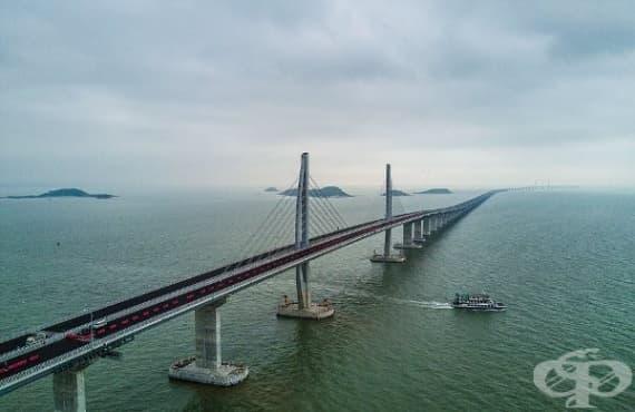 В Китай: Откриха най-дългия мост в света  - изображение