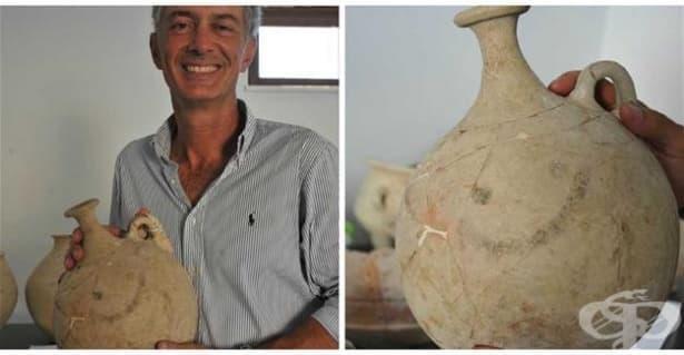Археолози откриха в Турция керамичен съд с най-стария усмихващ се емотикон - изображение
