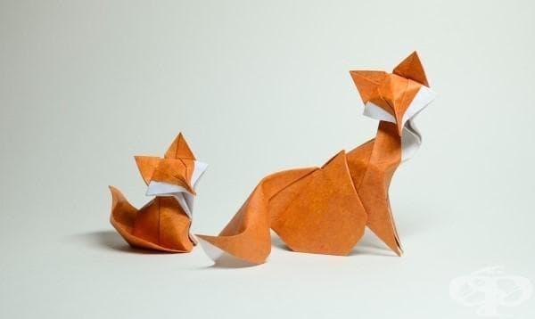 Мокра техника за сгъване на оригами дава персоналност на животните, създадени от художника Хуан Тиен Кует (галерия) - изображение
