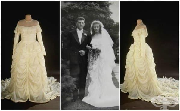 Парашут от II-та световна война спасява живот, а после се превръща в сватбена рокля - изображение