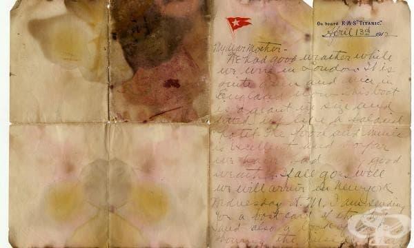 От дъното на океана: Писмо от Титаник бе продадено на търг за рекордна сума - изображение