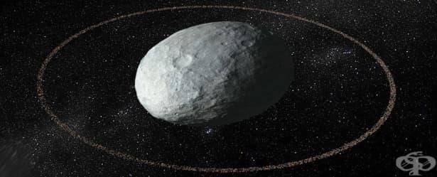 Астрономите откриха пръстен около екзотична планета джудже в Слънчевата система - изображение