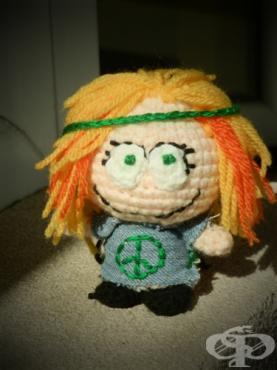 Направете карикатура на приятел с кука за плетене и малко фантазия - модел за плетене на една кука - 2 (стъпки+снимки) - изображение