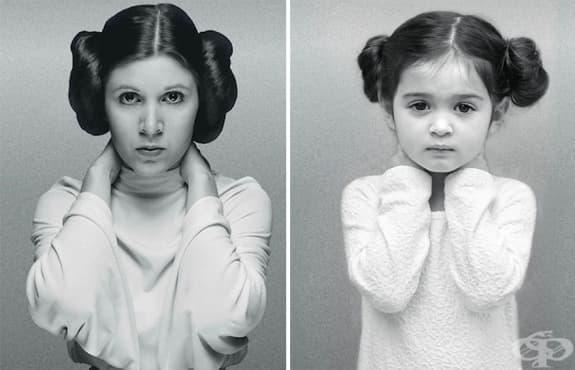 3-годишно момиченце се превъплъщава в известни дами с пословична воля и сила на характера - изображение