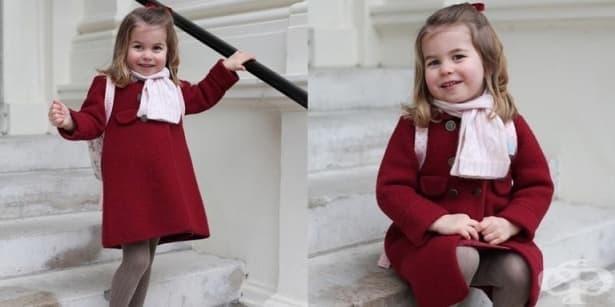 Уверена и усмихната: Принцеса Шарлот тръгна на детска градина - изображение