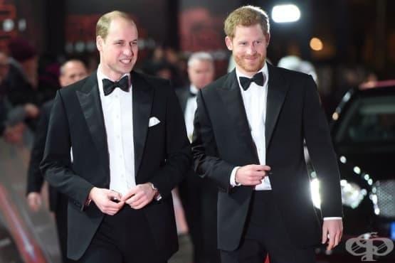 Принцовете Уилям и Хари на лондонската премиера на Междузвездни войни - изображение