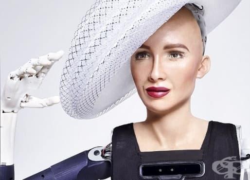 Роботът София краси корица на модно списание - изображение