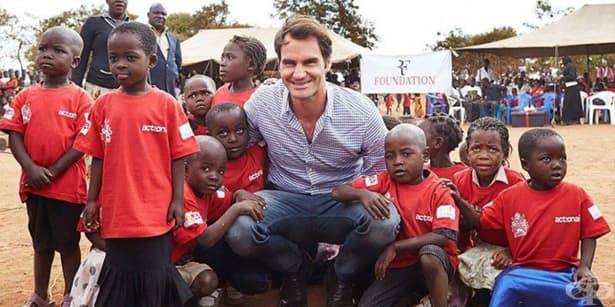 Тенисистът Роджър Федерер осигурява образование и храна за милиони деца - изображение