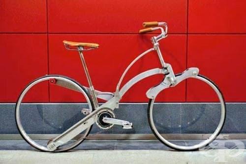 Революция в дизайна: Италианец изобрети сгъваем велосипед без спици с размер на чадър - изображение