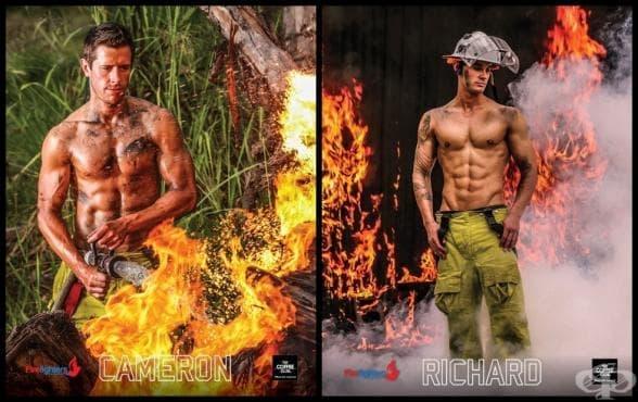 Този календар със секси пожарникари е изключително горещ и едновременно с това благотворителен (галерия) - изображение