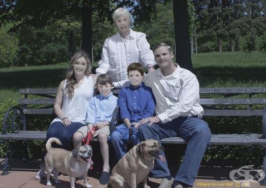 Семейна фотосесия с неочаквани снимки привлече вниманието на интернет потребителите - изображение