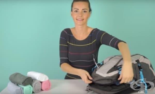 Лесен трик за сгъване на тениски така, че да заемат най-малко място в багажа ви - изображение