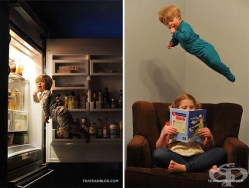 """Вижте очарователната серия на фотографът, който кара сина си с диагноза """"Синдрома на Даун"""" да полети - изображение"""