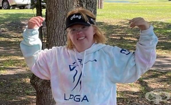 Ейми Бокърстет - първата спортистка със синдром на Даун, състезаваща се в колежанско първенство - изображение