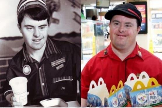 Служител на Макдоналдс със синдром на Даун се пенсионира - изображение
