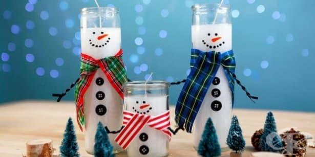 Как да превърнете евтини свещи в най-очарователните снежни човеци? - изображение
