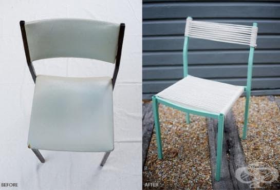 Рециклирайте стария стол с въже. Ето как! - изображение