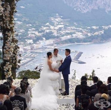 Сватба за милиони: Вижте най-луксозната сватба на млада двойка от Хонконг - изображение